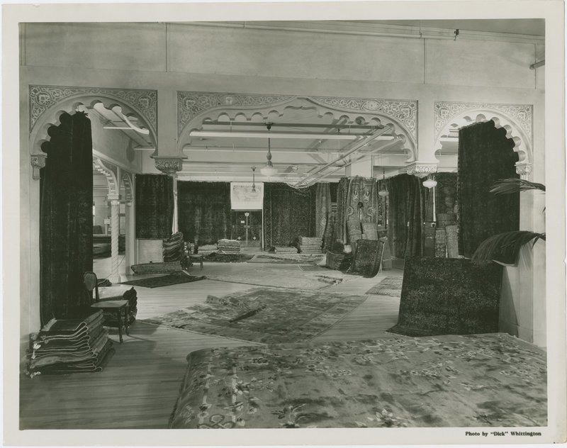 Rug department murals, Broadway department store, Los Angeles,  1934
