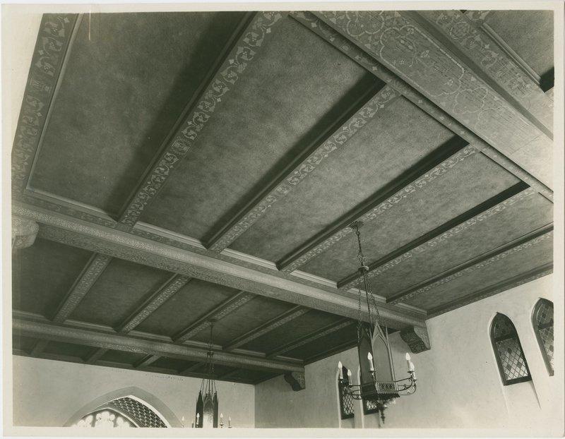 Stenciled ceiling, First Methodist Episcopal Church, Santa Ana, Calif., 1929