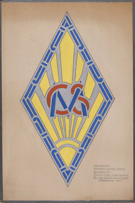 Monogram for Manning's Coffee Stores, ca. 1930