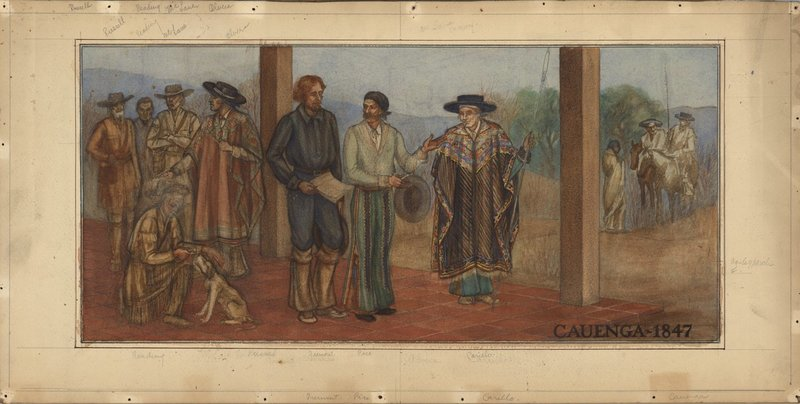 Lucile Lloyd: Study for Cahuenga mural