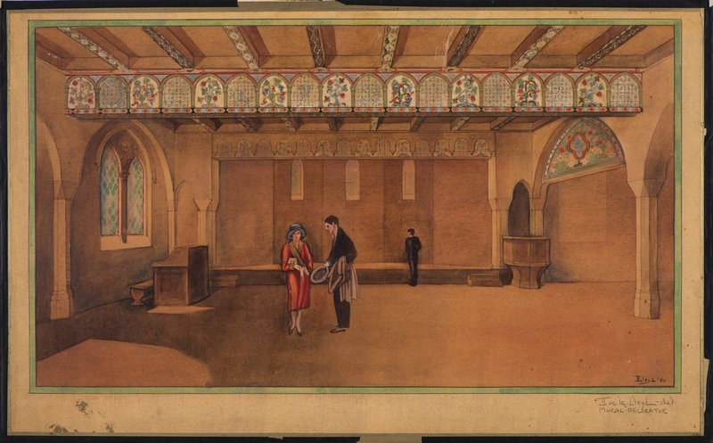Study for chapel murals, First Baptist Church, Pasadena, Calif., 1930