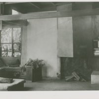 Kings Road House- interior with fireplace